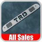 2007-2012 Toyota Tundra Third Brake Light Cover Brushed Aluminum Finish w/ TRD Cutout Sold Individually All Sales #76003