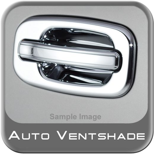 Chevy Avalanche Chrome Door Handle Covers 2007-2014 Handle & Bucket Set Chrome Plated ABS 4-piece Set Auto Ventshade AVS #685210