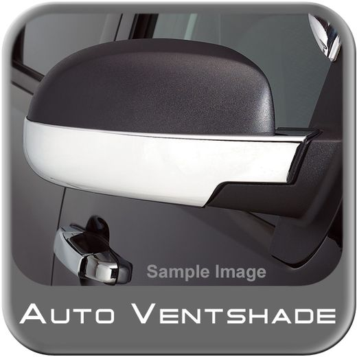 Chevy Tahoe Chrome Mirror Covers 2007-2014 Mirror Cover Set Chrome Plated ABS 2-piece Set Auto Ventshade AVS #687665