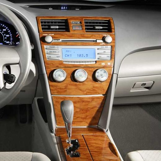 Toyota Camry Wood Dash Kit 2008-2011 XLE Simulated Wood Grain 4-pc Kit Genuine Toyota #PTS02-33083