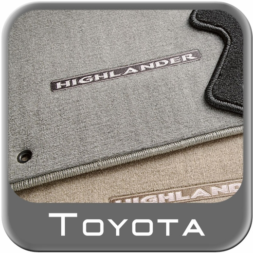Toyota Highlander Carpeted Floor Mats 2008-2011 Ash (Gray) 3-Piece Set Genuine Toyota #PT919-48080-22