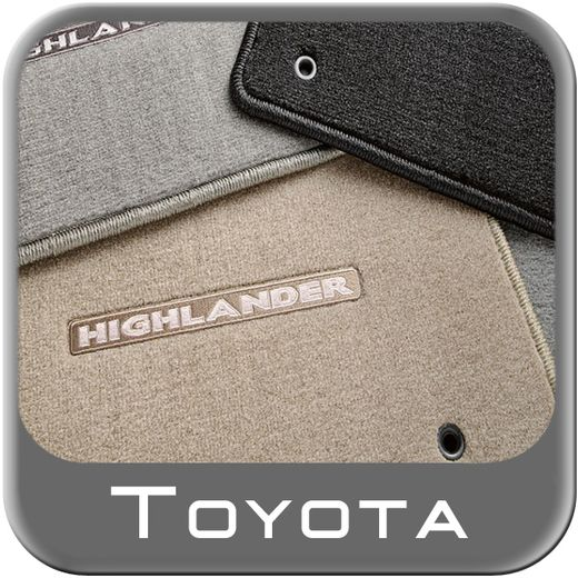Toyota Highlander Carpeted Floor Mats 2008-2011 Hybrid Sand Beige 3-Piece Set Genuine Toyota #PT919-48081-41