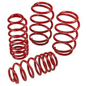 Toyota Lowering Springs 4 Piece Spring Set Powder Coated Red TRD Performance Suspension Genuine Toyota #PTR40-02080