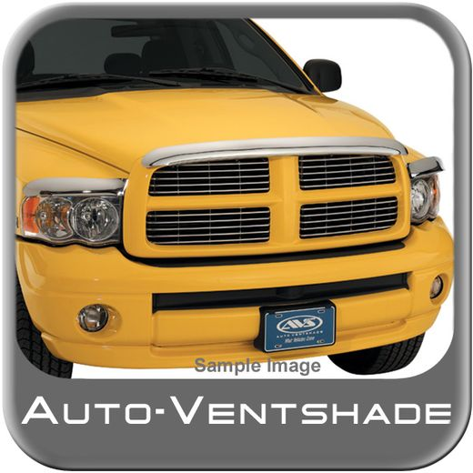 Dodge Ram Bug Deflector 2009-2015 Hood Shield Wrap Style Chrome Auto Ventshade AVS #680045