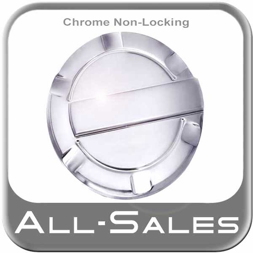 2009-2014 Ford F150 Truck Fuel Door Non-Locking Style Billet Aluminum, Striker Style Chrome Non-Locking Striker Sold Individually All Sales #6059C