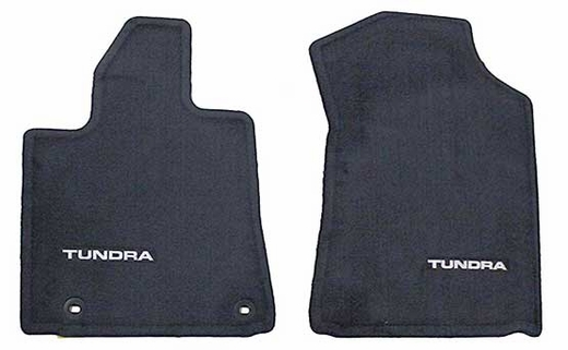 Toyota Tundra Carpeted Floor Mats 2012-2013 Black Front pair Genuine Toyota #PT206-34120-20