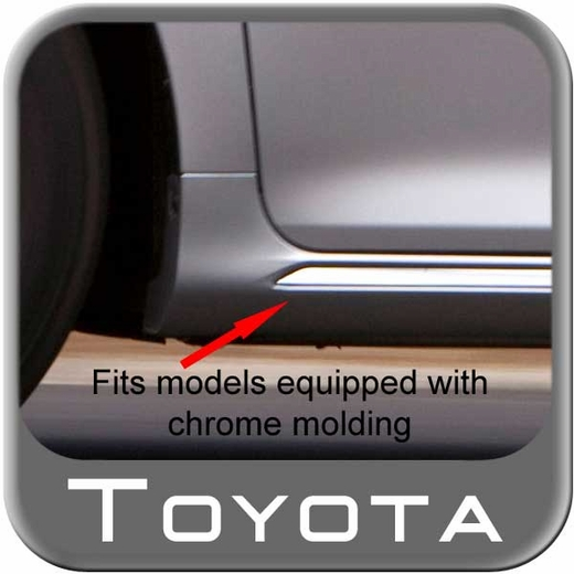 Toyota Camry Mud Flaps 2012-2014 Black LE, XLE, and Hybrid models with chrome moldings 4-piece Set Genuine Toyota #PU060-33012-P1