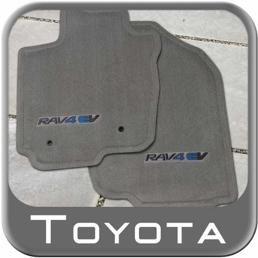 Toyota RAV4 Carpeted Floor Mats 2012-2014 EV Ash (Gray) 4-Piece Set Genuine Toyota #PT208-42120-10