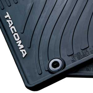 Toyota Tacoma Rubber Floor Mats 2012-2014 All-Weather Black 4-Piece Set Genuine Toyota #PT908-35125-20
