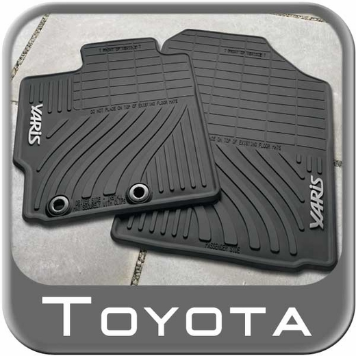 Toyota Yaris Rubber Floor Mats 2012-2014 All-Weather Black 4-Piece Set Genuine Toyota #PT908-52122-20