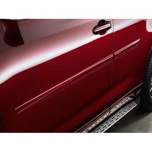 Toyota Highlander Body Side Moldings 2014-2017 Predawn Gray Mica (color code 1H1) Set of 4 Genuine Toyota #PT938-48141-11