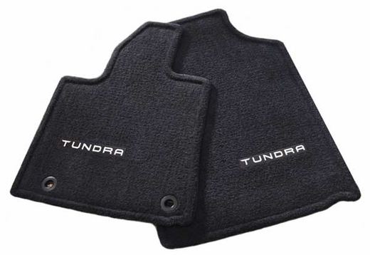 Toyota Tundra Carpeted Floor Mats 2014-2017 Black Front pair Genuine Toyota #PT206-34141-20