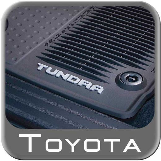 Toyota Tundra Rubber Floor Mats 2014-2017 All-Weather Black Front Pair Genuine Toyota #PT908-34160-02