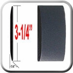"""3-1/4"""" Wide Black Body Side Molding Sold by the Foot, Trim Gard® # 3502E-01"""