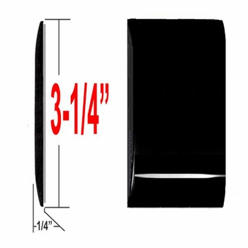 "3-1/4"" Wide Gloss Black Body Side Molding Sold by the Foot, Trim Gard® # 3502S"