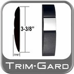 "3-3/8"" Wide Black / Chrome Body Side Molding Sold by the Foot, Trim Gard® # 98S10"