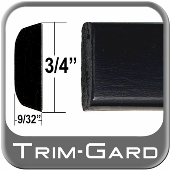 """3/4"""" Wide Black Body Side Molding Sold by the Foot, Trim Gard® # PC02"""