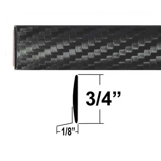 "3/4"" Wide Carbon Fiber Body Side Molding Sold by the Foot, Cowles® # 37-201"