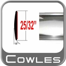 "3/4"" Wide Chrome Body Side Molding Sold by the Foot, Cowles® # 37-024-01"