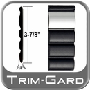 "3-7/8"" Wide Black-Chrome Body Side Molding Sold by the Foot, Trim Gard® # 99CT-02-01"