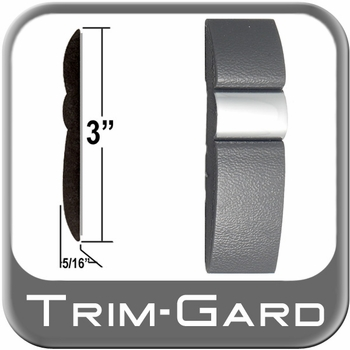"""3"""" Wide Gray-Chrome Body Side Molding Sold by the Foot, Trim Gard® # GMAV"""