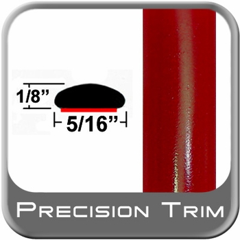 """5/16"""" Wide Absolute Red Wheel Molding Trim 3P0 ( CP16 ), Sold by the Foot, ColorTrim Plastics® # 40-16"""