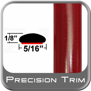 """5/16"""" Wide Barcelona Red Wheel Molding Trim 3R3 ( PT42 ), Sold by the Foot, Precision Trim® # 24200-42"""