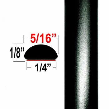 """5/16"""" Wide Black Wheel Molding Trim 202, 209 ( CP20 / PT60 ), Sold by the Foot, ColorTrim Plastics® # 40-20"""