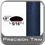 "5/16"" Wide Deep Blue Metallic Wheel Molding Trim ( CP58 ), Sold by the Foot, ColorTrim Plastics® # 40-58"