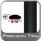 """5/16"""" Wide Matte Black Wheel Molding Trim ( CP48 ), Sold by the Foot, ColorTrim Plastics® # 40-48"""
