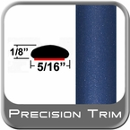 "5/16"" Wide Medium Blue Metallic Wheel Molding Trim ( CP50 ), Sold by the Foot, ColorTrim Plastics® # 40-50"