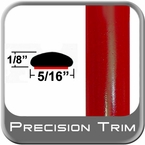 "5/16"" Wide Radiant Red Wheel Molding Trim 3L5 ( CP42 ), Sold by the Foot, ColorTrim Plastics® # 40-42"