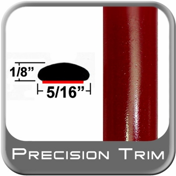 """5/16"""" Wide Salsa Red Wheel Molding Trim 3Q3 ( CP39 ), Sold by the Foot, ColorTrim Plastics® # 40-39"""