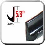 "5/8"" Tall Black Drip Rail Molding Sold by the Foot, Trim Gard® # DR02-01"