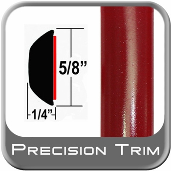 "5/8"" Wide Barcelona Red Wheel Molding Trim 3R3 ( CP19 ), Sold by the Foot, ColorTrim Plastics® # 80-19"
