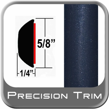 """5/8"""" Wide Indigo Ink Wheel Molding Trim 8P4 ( CP22 ), Sold by the Foot, ColorTrim Plastics® # 80-22"""