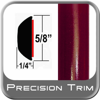 """5/8"""" Wide Medium Red Metallic Wheel Molding Trim ( CP41 ), Sold by the Foot, ColorTrim Plastics® # 80-41"""