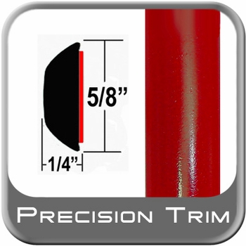 "5/8"" Wide Radiant Red Wheel Molding Trim 3L5 ( CP42 ), Sold by the Foot, ColorTrim Plastics® # 80-42"