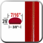"7/16"" Wide Absolute Red Wheel Molding Trim 3P0 ( CP16 ), Sold by the Foot, ColorTrim Plastics® # 20-16"