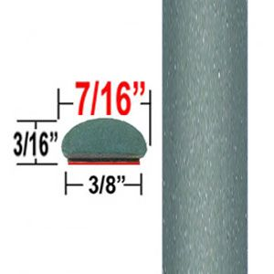 "7/16"" Wide Aloe Green Wheel Molding Trim 776 ( CP31 ), Sold by the Foot, ColorTrim Plastics® # 20-31"