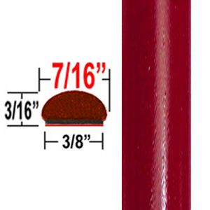 """7/16"""" Wide Barcelona Red Wheel Molding Trim 3R3 ( CP19 ), Sold by the Foot, ColorTrim Plastics® # 20-19"""