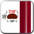 "7/16"" Wide Barcelona Red Wheel Molding Trim 3R3 ( CP19 ), Sold by the Foot, ColorTrim Plastics® # 20-19"
