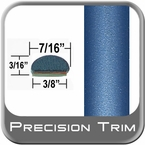 "7/16"" Wide Blue Wheel Molding Trim ( PT07 ), Sold by the Foot, Precision Trim® # 2150-07-01"