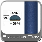 "7/16"" Wide Blue Wheel Molding Trim ( PT52 ), Sold by the Foot, Precision Trim® # 2150-52-01"
