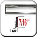 """7/16"""" Wide Chrome Body Side Molding Sold by the Foot, Cowles® # 37-751-01"""