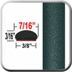 "7/16"" Wide Dark Green Metallic Wheel Molding Trim ( CP57 ), Sold by the Foot, ColorTrim Plastics® # 20-57"
