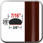 "7/16"" Wide Dark Purple Red Metallic Wheel Molding Trim ( CP43 ), Sold by the Foot, ColorTrim Plastics® # 20-43"
