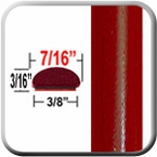 "7/16"" Wide Deep Bright Red Metallic Wheel Molding Trim ( CP85 ), Sold by the Foot, ColorTrim Plastics® # 20-85"
