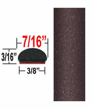 """7/16"""" Wide Deep Brown Metallic Wheel Molding Trim ( CP65 ), Sold by the Foot, ColorTrim Plastics® # 20-65"""