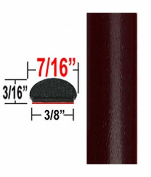 """7/16"""" Wide Deep Brown Metallic Wheel Molding Trim ( CP77 ), Sold by the Foot, ColorTrim Plastics® # 20-77"""